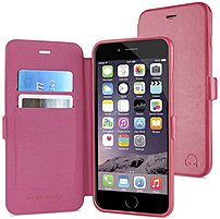 Gear Beast GearFolio CFSC-I6A-PNK Wallet Folio Flip Case with Screen Protector for Apple iPhone 6 Plus - Pink
