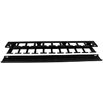 StarTech.com 1U Horizontal Finger Duct Rack Cable Management Panel with Cover - Cable Management Panel - 1 Pack - 1U Rack Height - 19' Panel Width