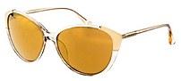 Michael Kors M2887s-215 Paige Designer Sunglasses - Crystal Champagne - Gold Frames - Gradient Lens - Polarized - Uv Protection