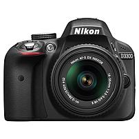 Nikon D3300 24.2 Megapixel Digital SLR Camera - 18 mm - 55 mm - Black - 3' LCD - 16:9 - 3.1x Optical Zoom - Optical (IS) - 6000 x 4000 Image - 1920 x 1080 Video - HDMI - HD Movie Mode