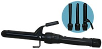 The Keratin Complex Transformer Interchangeable Styling Rod includes three versatile attachments   1 3 4 inch cone barrel, 3 4 1 inch reverse cone barrel, and 1 1 4 inch barrel with clip to create endless styles, from downtown waves to amplified volume