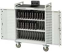 Bretford NETBOOK36-D 36-Unit Intelligent Netbook Cart - Push Handle Handle - 4 Casters - Steel - 33' Width x 28.5' Depth x 45' Height