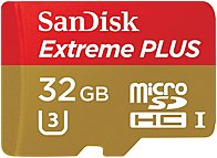 SanDisk 32 GB Micro SD Card Extreme PLUS Flash Memory Card - Class 10 32 GB UHS-1/...