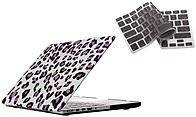 Bunta ACCMPRE02P04 Shield Hard-Case Shell - for Macbook 15-inch - Leopard / Purple - with Silicone Keyboard Cover