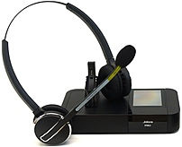 Jabra PRO 9450 Duo NCSA Headset - Stereo - Wireless - DECT - 450 ft - Over-the-head - Binaural - Semi-open - Noise Cancelling Microphone