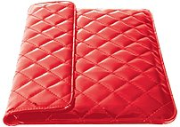 iEssentials IE-QLT-10RD Universal Carrying Case for 10-inch Tablet - Red - Quilted
