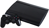 Sony PlayStation 3 CECH 4001B Slim Gaming Console 250 GB Hard Drive Blu ray Charcoal Black