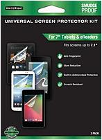 The WriteRight 9415101 7.0 inch Universal Screen Protector features ultra durable static cling film that protects your device screen from nicks and scratches