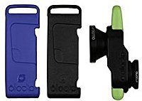 Olloclip Fisheye/Wide Angle/Macro Lens Selfie - 3-In-1 Photo Lens for iPhone 5/5S - Black/Blue/Green - OCEU-IPH5-L1BK-SBK-1