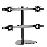 Chief KTP445B Widescreen Quad Monitor Table Stand - Up to 80lb Flat Panel Monitor - Black - Desk-mountable