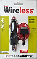 Just Wireless 705954031000 03100 Car Charger for iPhone 4S/4/3GS - Black
