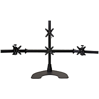 Ergotech Quad LCD Monitor Desk Stand 28 inch pole Black Quad 1 over 3 100 D28 B13