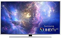 Enjoy a home theater experience like never before with the Samsung JS8500 Series UN48JS8500 4K Super Ultra HD Smart LED TV
