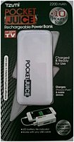 Tzumi Pocket Juice 817243026687 2668 Usb Rechargeable Power Bank - 2200 Mah - White