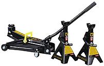 Torin T82253w Black Jack Trolley Jack With 2 Stands