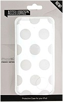 Accellorize Classic Series 890968003201 00320 Case for iPhone 5C - White Dot