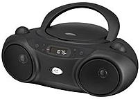 Gpx Bc232b Sporty Cd And Radio Boombox - 6 X C Batteries (not Included) - Black