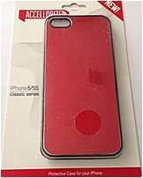 Accellorize Classic Series 890968001153 Metal Case for iPhone 5/5S - Brushed Red