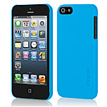 Incipio IPH-807 Feather Ultra Thin Snap-On Case for iPhone 5/5S - iPhone 5, iPhone 5S - Cyan Blue - Translucent - Polycarbonate, Plextonium