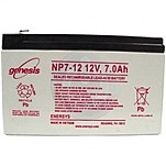 Genesis NP7-12 12V/7Ah Sealed Lead Acid Battery with F1 Terminal