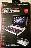 Tzumi 817243035351 3535s Universal Bluetooth Tablet Keyboard - Silver