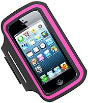 Tzumi 817243024126 2412 P\/FM Active Armband for Apple iPhone 5 - Hot Pink