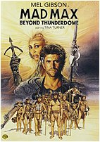 The Warner Home Video Mad Max Beyond Thunderdome DVD features Mel Gibson and Tina Turner star in the third film of the Mad Max series