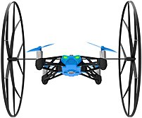 Parrot PF723001 Rolling Spider MiniDrone - Mini Quadcopter with Detachable Wheels - Blue