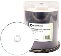 Microboards MIC DVD R EVR100 White Everest Hub Printable DVD R Media Up to 16x 4.7 GB 100 Pack