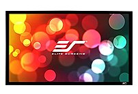 """Elite Screens ER166WH1W A1080P2 Sable235 Wall Mount Fixed Frame Projection Screen  166"""" 2.35 1 Aspect Ratio   Acoustically Transparent    65"""" x 152.8""""   AcousticPro1080P2"""
