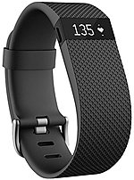 Fitbit Charge HR FB405BKL Activity Tracker with Heart Rate Monitor - Large - Black