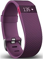 Fitbit Charge Hr Fb405pml Activity Tracker With Heart Rate Monitor - Large - Plum