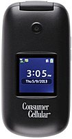 Huawei Consumer Cellular Envoy 857003005101 U3900 Flip Mobile Phone - Bluetooth 2.0 - 2.0 Megapixels Camera - Black - Locked To Prepaid