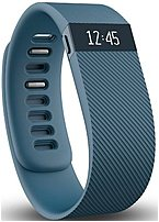 Get motivated to move more with Fitbit Charge FB404SLS, by tracking all day activity like steps taken, distance traveled, calories burned, floors climbed and active minutes