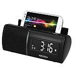 Jensen Jbd100 Universal Bluetooth Clock Radio With Charging For Smartphones - Usb Jbd-100