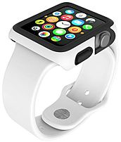 Speck Products SPK-A4166 CandyShell Fit Case for Apple Watch 42 mm - White, Black