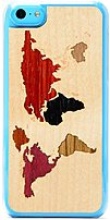 Carved 5C CC1 WORLD Slim Wood Case for iPhone 5C World Map Inlay