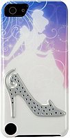 The Disney IP 1235 Princess Themed Clip Case features embedded plastic crystals in the shape of Cinderella's lost shoe, along with a silhouette of Cinderella in her gown