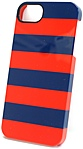 Griffin Cabana iPhone Case - iPhone - Blue/Red Stripes - Plastic, Polycarbonate, Leather