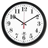 Chicago Lighthouse 67700002 Wall Contract Clock - Analog - 13.75-inch - White Dial, Black
