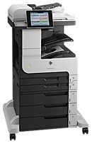 The HP LaserJet Enterprise MFP M725z CF068ABGJ Multifunction Laser Printer enables large volume printing on a wide range of paper sizes   up to A3   with a standard 2100 sheet input capacity