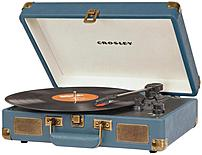 Put down the iPod and mobilize your music with the Crosley CR8005A IN Cruiser three speed portable turntable