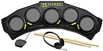 Rock out on a First Act Adam Levine Designer Series AL125 Tabletop Drum Pad that's packed with sound