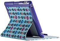 Speck Products Spk-a4098 Fitfolio Case For Ipad 2/3/4 - Flower Owl - Cloud Blue, Ultraviolet Purple