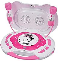 Hello Kitty Kt2003ca Cd Karaoke System/cd Player With Ac Adapter - 6 X C (batteries Not Included) - Pink, White