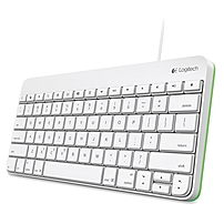 Logitech Wired Keyboard For Ipad 1, 2, 3 - Cable Connectivity - 30-pin Interface - Compatible With Tablet - Qwerty Keys Layout - Scissors - White, Green 920-005845