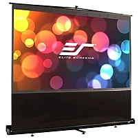 "Elite Screens F84NWV ezCinema Portable Floor Set Manual Projection Screen  84"" 4 3 Aspect Ratio   MaxWhite    50"" x 67""   Matte White   84"" Diagonal"