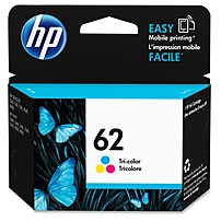 Hp 62 Ink Cartridge - Cyan, Magenta, Yellow - Inkjet - 165 Page - 1 Each C2p06an