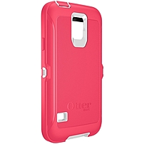 Otterbox Defender Carrying Case (holster) For Smartphone - Whisper White, Blaze Pink - Drop Resistant Interior, Bump Resistant Interior, Shock Resistant Interior, Scratch Resistant Screen Protector, Dust Resistant Interior - Silicone - Belt Clip 77-39166