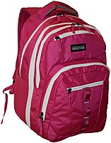 The Kenneth Cole 5709762OD PINK Reaction Deluxe BTS Backpack is made from polyester fabric and features a classic shape with multiple storage compartments, a small front logo, a top grab handle, and ergonomic shoulder straps that make it comfortable to carry